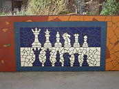 Mosaic Chess Pieces