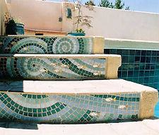 Mosaic steps by ABQ Art Glass