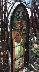 Stained glass exterior gate repair by ABQ Art Glass