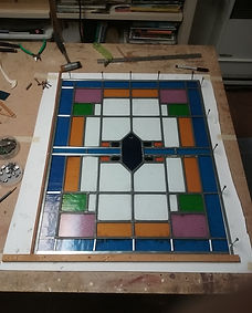 Modern stained glass by ABQ Art Glass