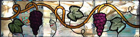 Grape Vine stained glass by ABQ Art Glass