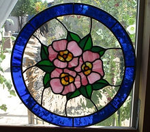 Wild roses stained glass