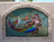 Mermaid mosaic by ABQ Art Glass