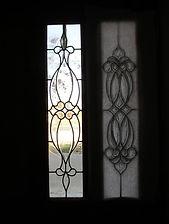 Beveled glass front door panel repair by ABQ Art Glass