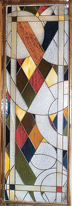 Diamonds and Circles stained glass by ABQ Art Glass