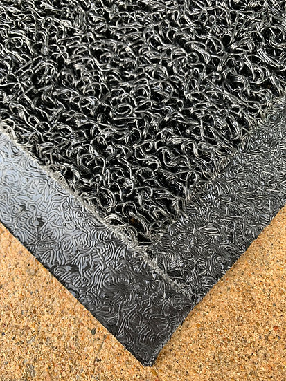 "1/2"", 4'x6' Unbacked Edged Scraping Mat, Black"