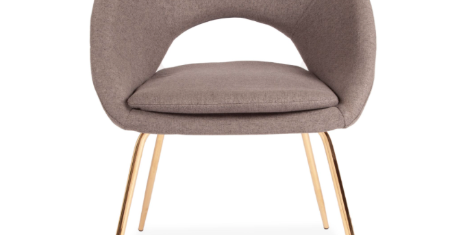 Grey Open Back Dining Chair