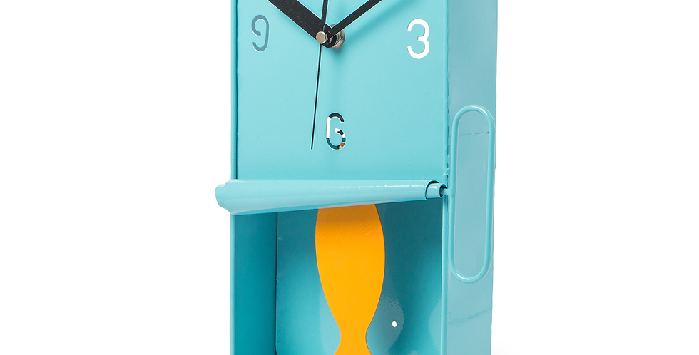 Sardine Tin Pendulum Wall Clock