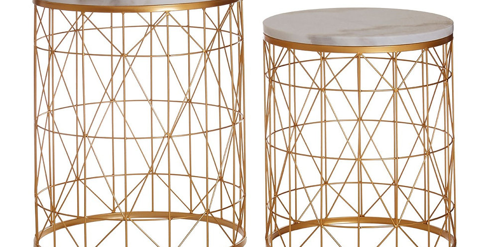 Avantis Set of Two Round Side Tables