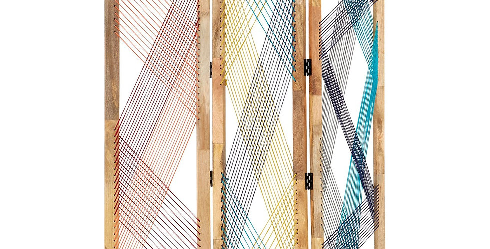 Fusion 3 Sections Multicoloured Room Divider