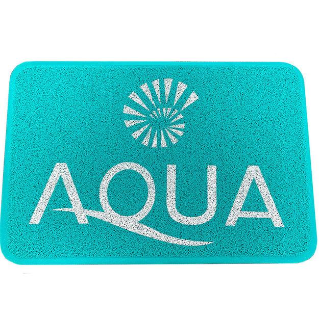 Aqua Custom Logo Mat