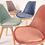 Thumbnail: Velvet Tulip Dining Chairs, with Beech Legs
