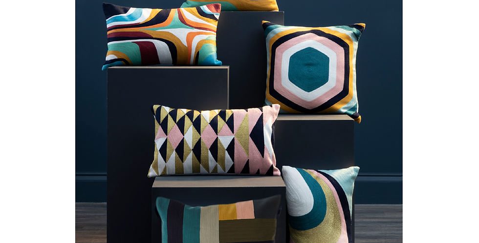 Bosie Ozella Abstract Design Cushion Collection