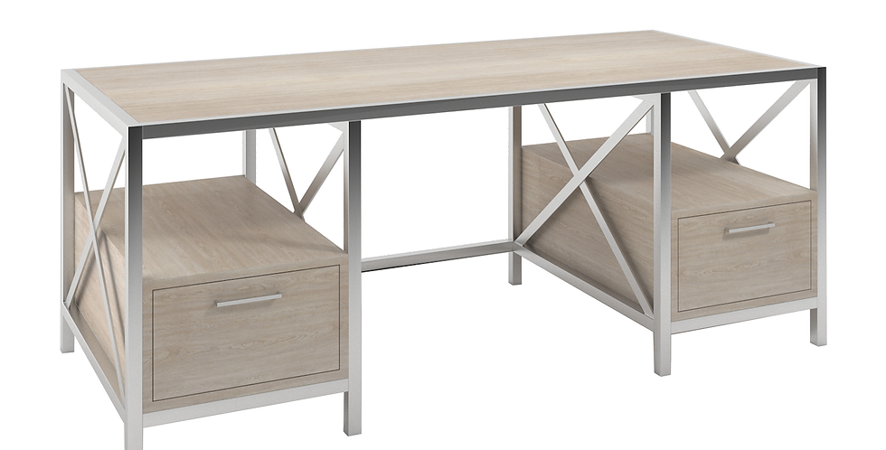 Contemporary Desk with Storage left and right