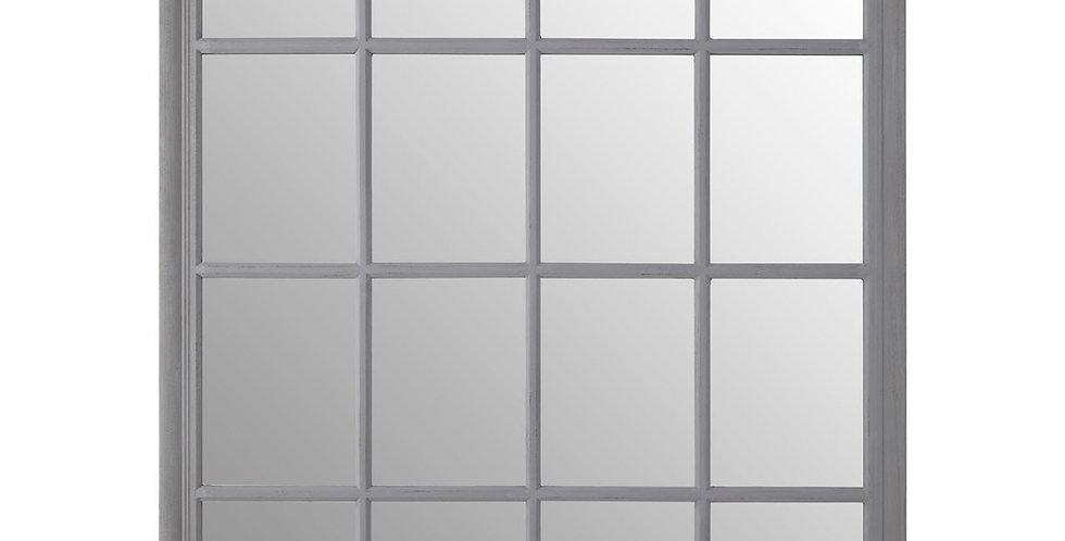 Grey Flat Wood Wall Mirror