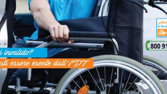 Sei invalido o accompagni un invalido? Potresti avere diritto all'esenzione dell'IPT