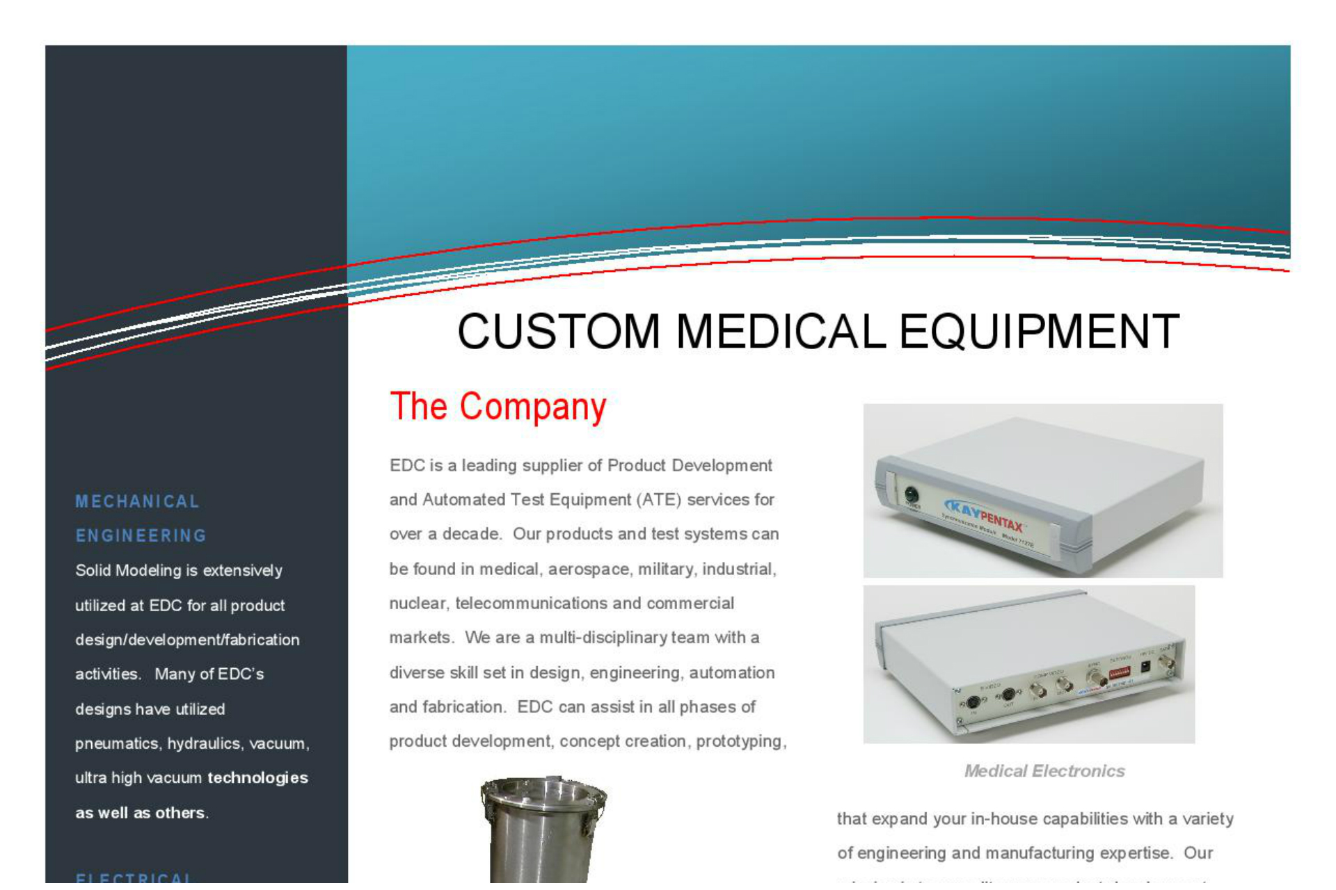 Custom Medical Equipment Brochure