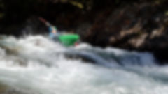 Kayaker on the upper Ngaruroro river