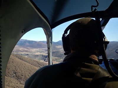 Boyd Airstrip from heli