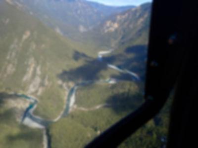 Ngaruroro river from heli