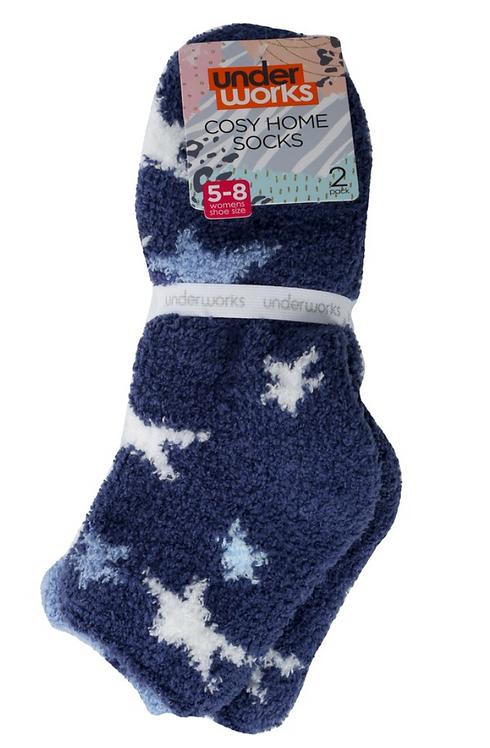 Women's Home Socks- Blue