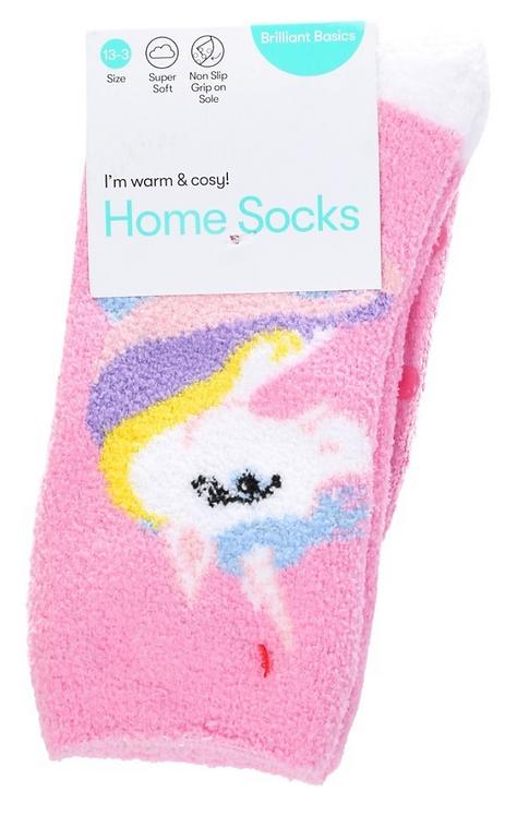Girl's Home Socks- Unicorn