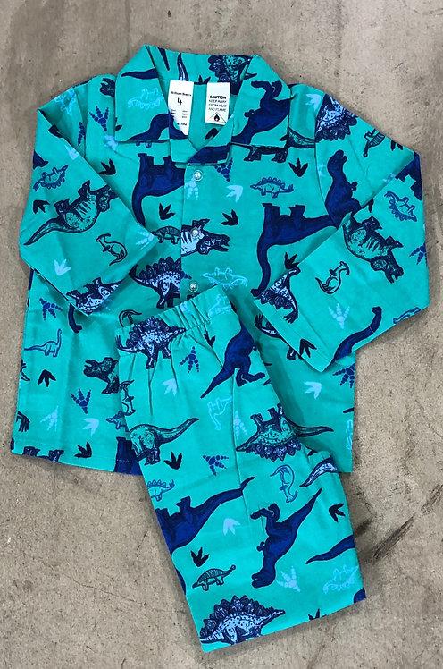Boys Flannel Dinosaur Pyjamas