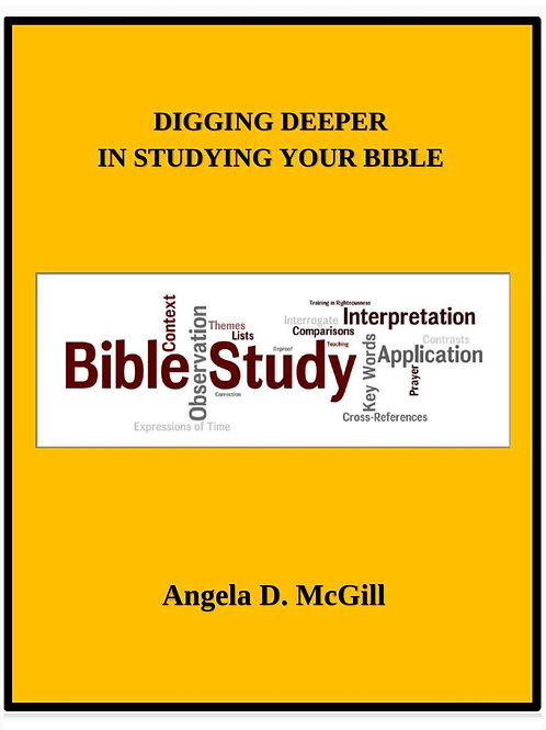 Digging Deeper In Studying The Bible EBOOK