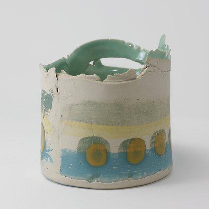 White stoneware vessel