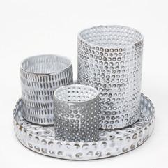 Pierced platter with vessels