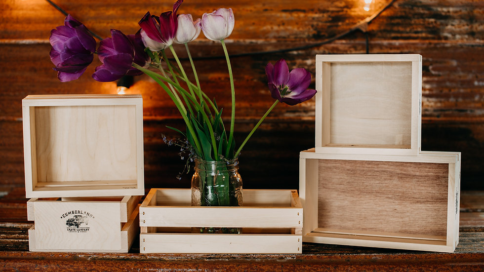 Small crate-style gift boxes