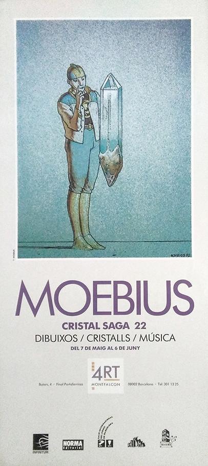 Cartel vintage_CRISTAL SAGA 22_Barcelona