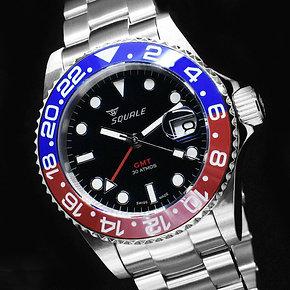 30 ATMOS Blue/Red GMT Ceramica - SEL Bracelet
