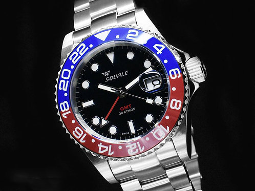 30 ATMOS Blue/Red GMT Ceramica - SEL Bracelet