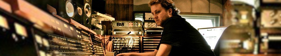 Craig Conard composer working at the Sound Factory in Los Angeles