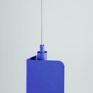 Blue Metal Lamp