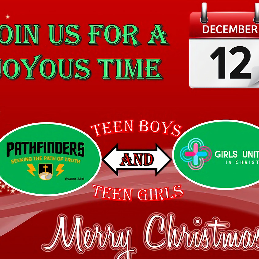Pathfinders and GUIC Christmas Event
