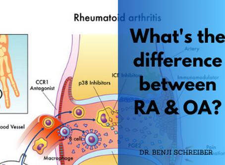 Rheumatoid arthritis vs Osteoarthritis - What's the difference?