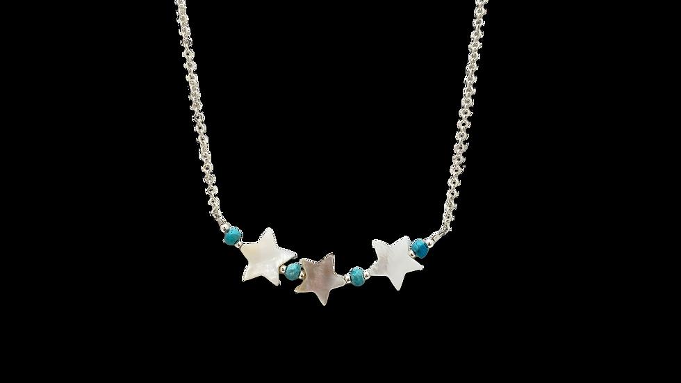 Collar estrellas con Turquesas
