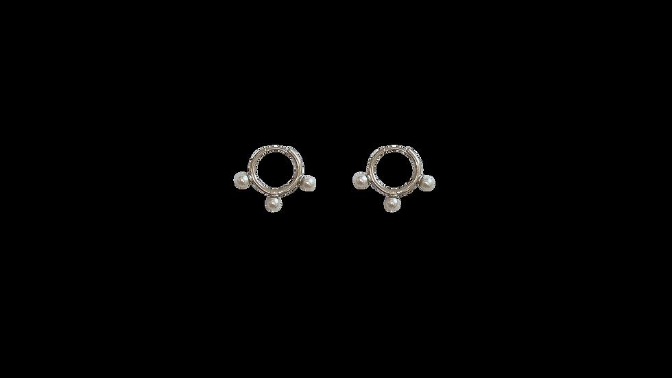 Arracadas mini perlas