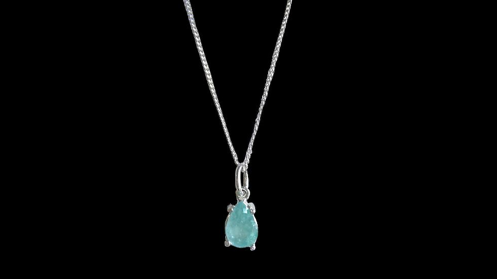 Collar Krystalos Esmeralda Gota