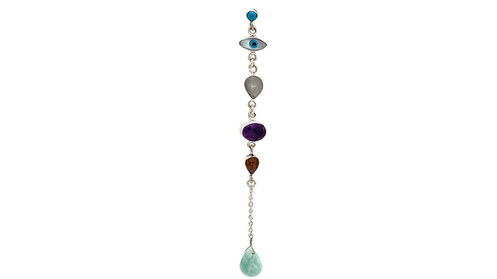 Mono Earring Krystalos Amazonita