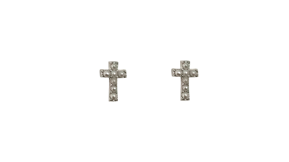 Piercing cruz perlitas