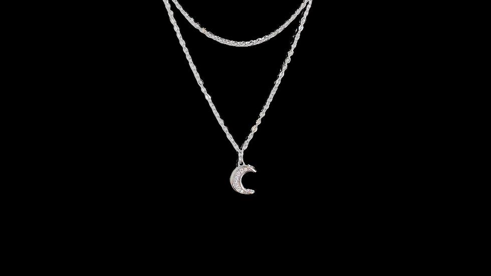 Collar Doble Luna