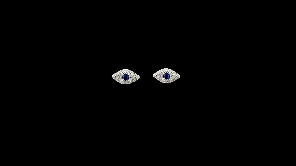 Piercing ojito con zirconia azul