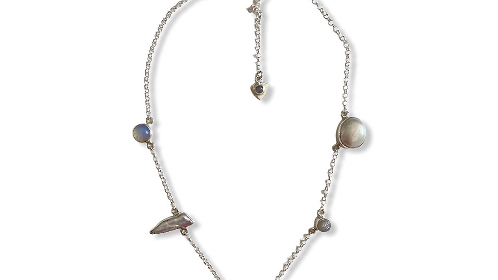 Collar Krystalos Perlas