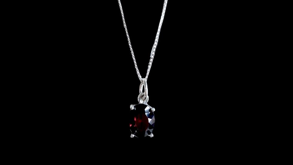 Collar Krystalos Granate