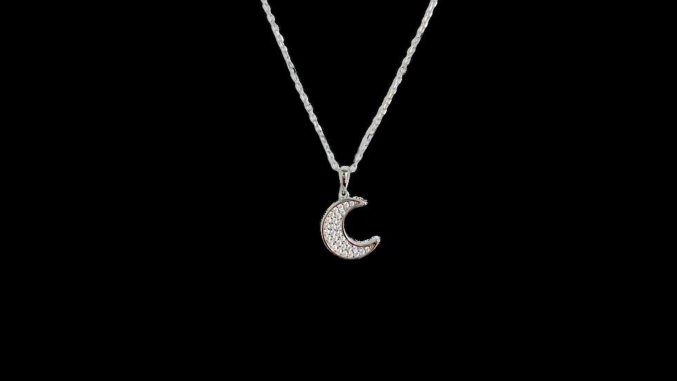 Collar luna con zirconias