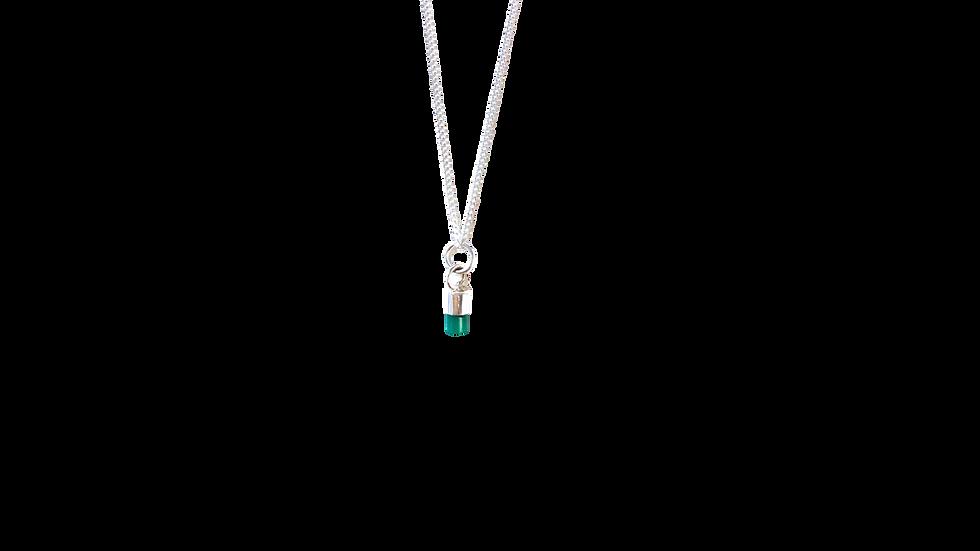 Collar de Esmeralda Mini en Punta