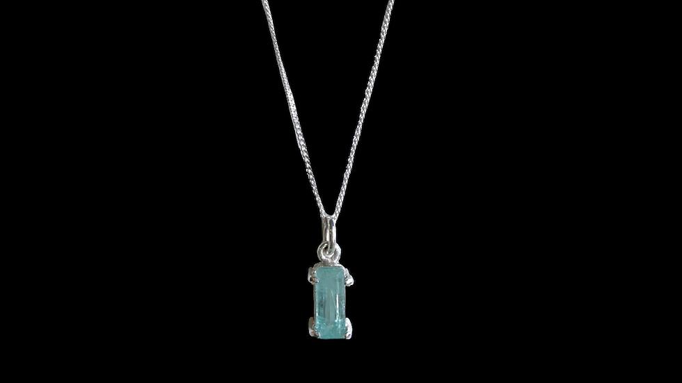 Collar krystalos Esmeralda  Rectangular